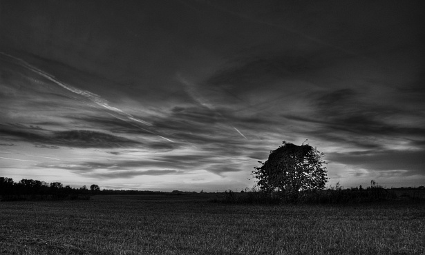 Another sunset (bw)