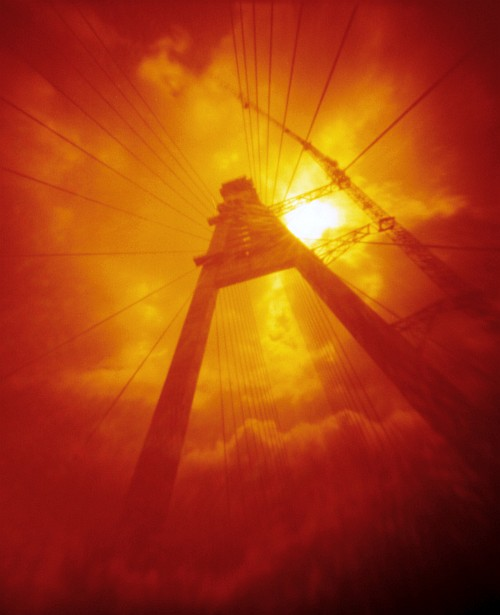 Feeling small  || Redscale pinhole camera | ~F/90 | Kodak Color 100 (expired)