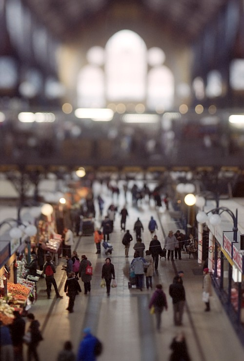 Central Market Hall || Nikon F-801s | Homemade Tilt-shift lens | Fuji X-Tra 400