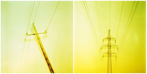Power lines || Bronica SQ-A | Zenzanon-S 80mm f/2.8 | Fuji Provia 100F | cross processed | multiple exposure