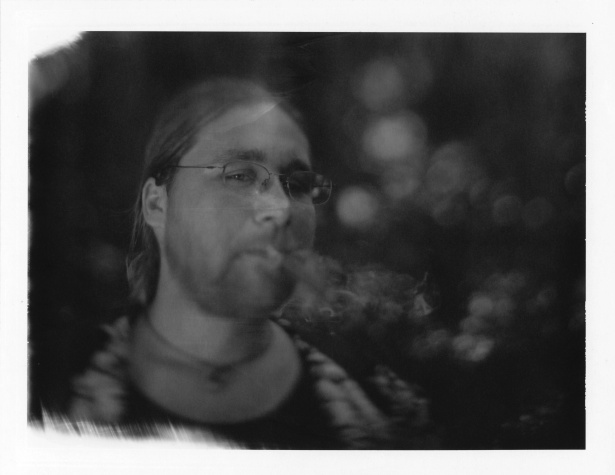 Smoke near the water || Graflex Speed Graphic with Polaroid 550 holder | Kodak Aero Ektar 178mm | Polapan Pro100 (expired)