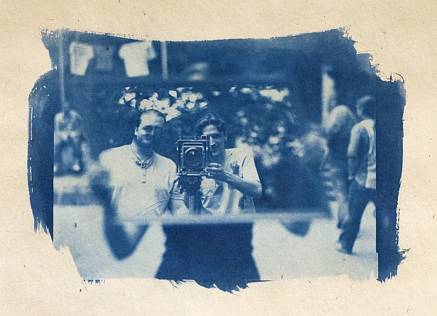 Arckékek - Jókai napok || Graflex Speed Graphic | Kodak Aero Ektar 178mm |  Cyanotype