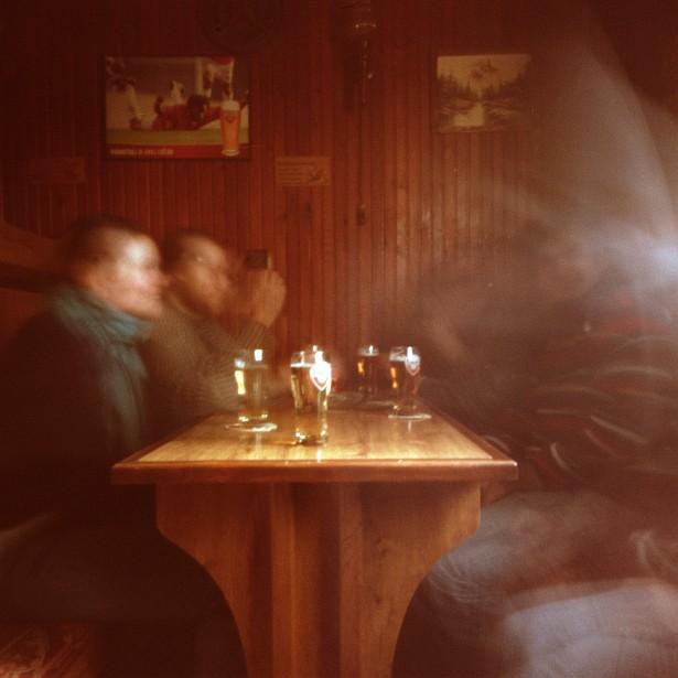 Beer-blur || PinHolga | Fuji Super G 100