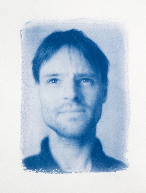 Andreas || Graflex Speed Graphic | Kodak Aero Ektar 178mm | Cyanotype