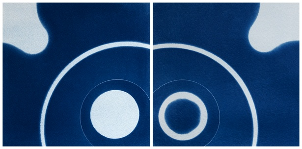Birth of a galaxy #2 || Cyanotype | Photogram