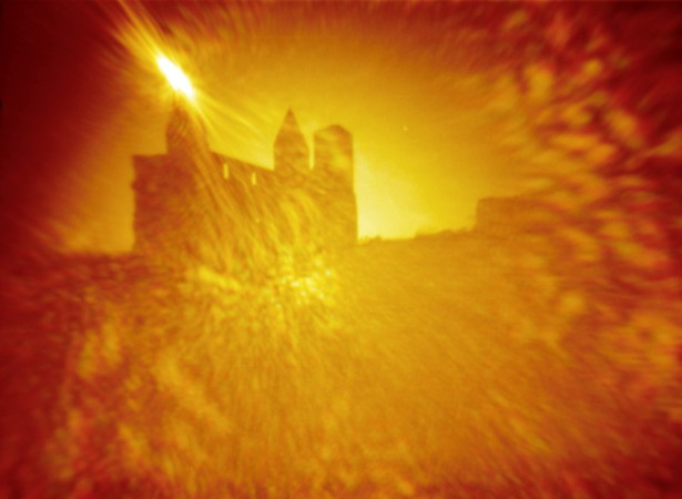 Blinded by the light || Pinhole - modified point and shoot camera | ~F/90 | Kodak Color 100 (expired) - redscale