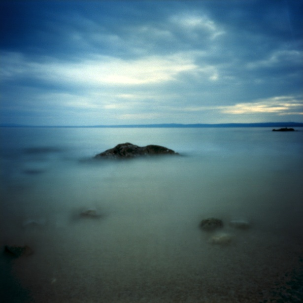More rocks in the water #1 || Pinholga | Kodak Ektar 100