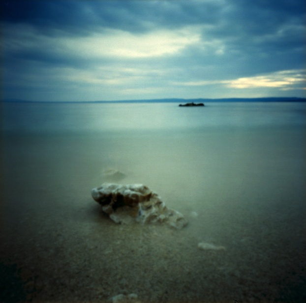 More rocks in the water #2 || Pinholga | Kodak Ektar 100