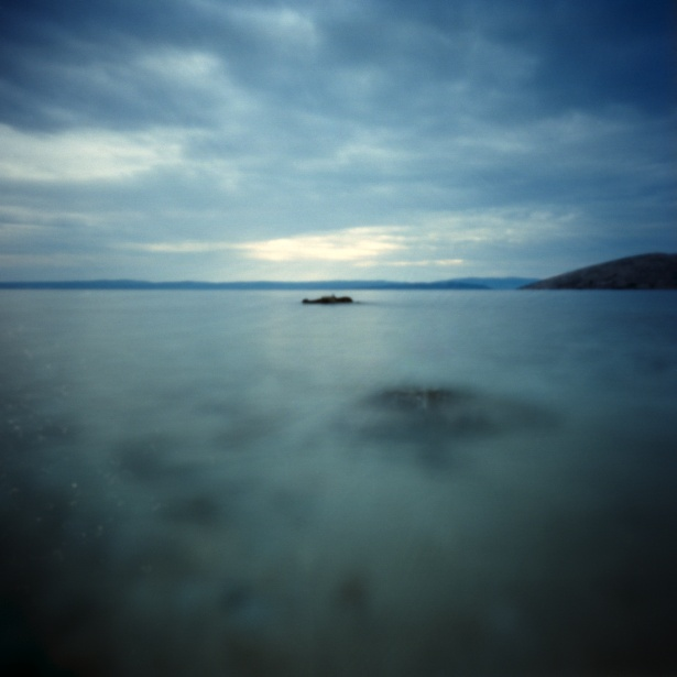 More rocks in the water #3 || Pinholga | Kodak Ektar 100