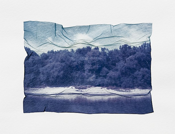 Tisza - Emulsion lift || Polaroid Land Camera 350 | Polaroid Type 669 | Emulsion lift on watercolor paper