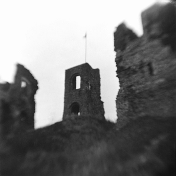 Castle of Somló #2 || Kodak Brownie Hawkeye Flash with flipped lens | Foma Fomapan 100