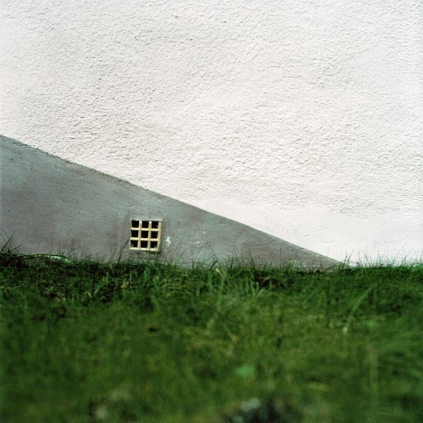 Abstract with grass and wall || Hasselblad 500C/M | Zeiss Planar 2.8/80mm | Kodak Portra 160VC