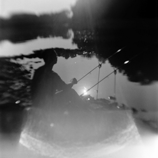 Fishing stories || Kodak Brownie Hawkeye Flash with flipped lens | Foma Fomapan 100