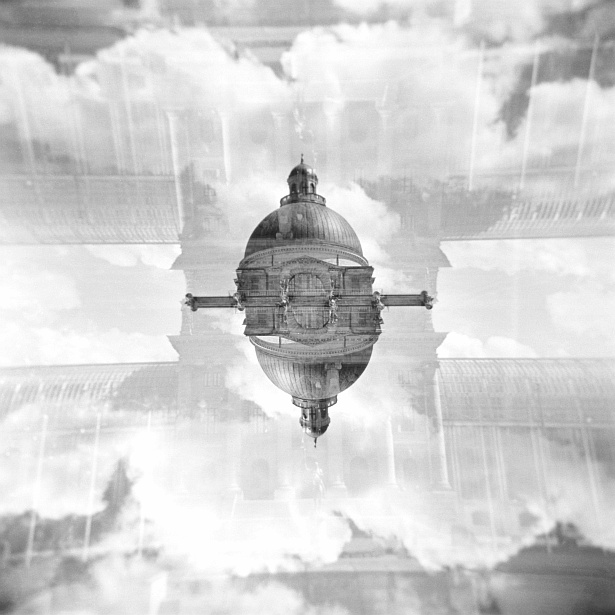 Munich double exposures #1 || Holga | Ilford XP2 (expired)