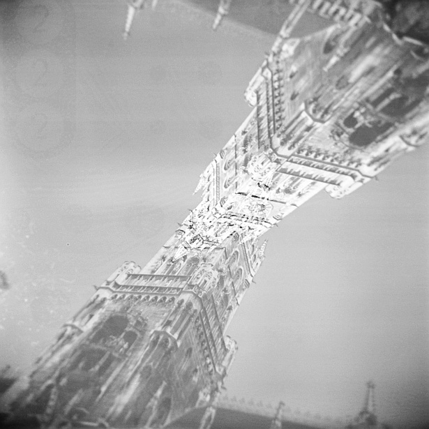 Munich double exposures #3 || Holga | Ilford XP2 (expired)
