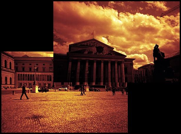 Munich in red #1 || Olympus XA | Fuji Superia X-Tra 400@100 - redscale