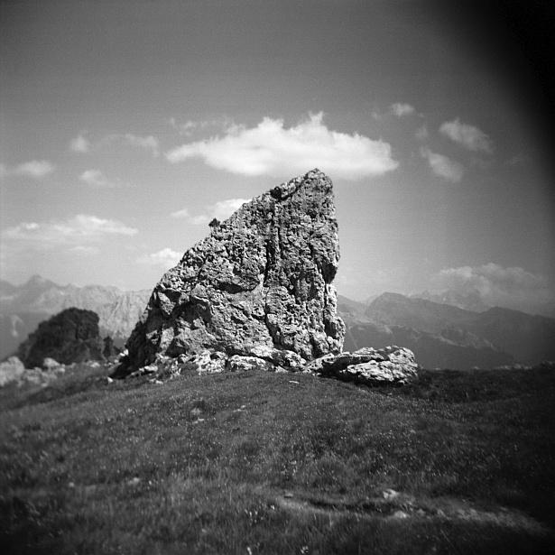 Dolomites #3 || Holga | Kodak BW400CN
