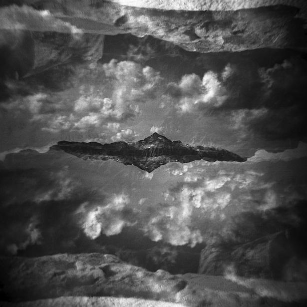 Dolomites – Double exposures #3 || Holga | Kodak BW400CN