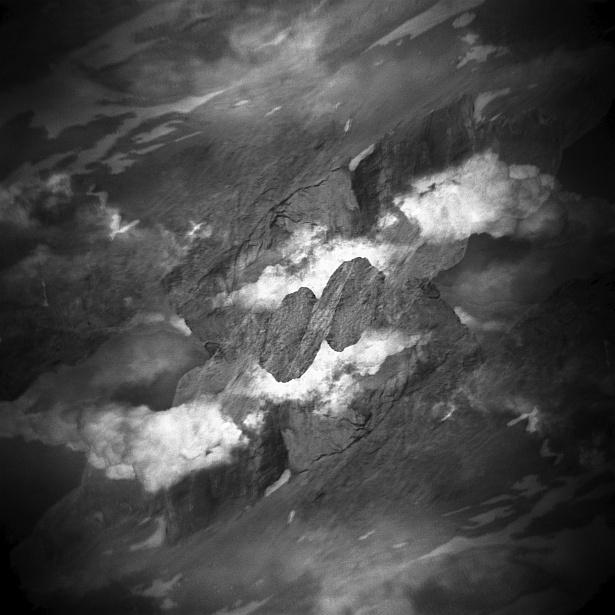 Dolomites – Double exposures #4 || Holga | Kodak BW400CN