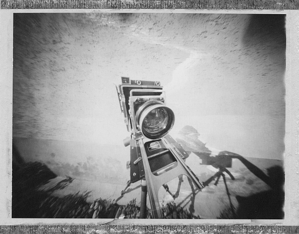 Graflex Speed Graphic | Zeroimage 4x5 | F/138 | Polaroid Polapan 553 (expired in 2000)